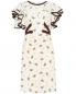Платье из шелка с узором и контрастной отделкой Dorothee Schumacher  –  Общий вид