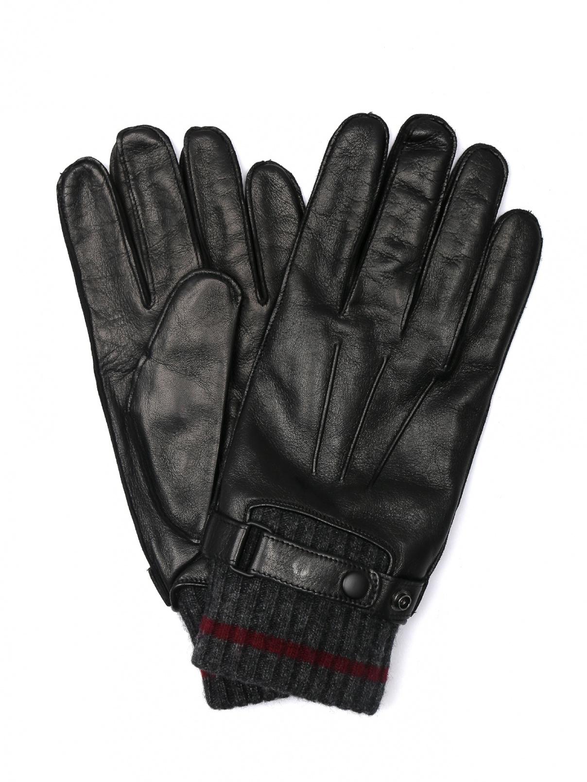 Перчатки кожаные с вязаной подкладкой Portolano  –  Общий вид