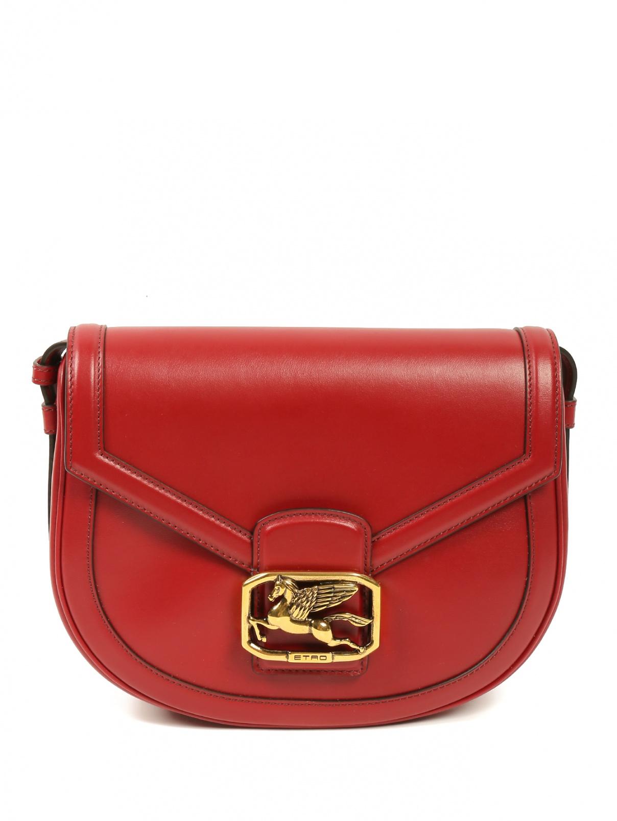 Кожаная сумка на плечевом ремне с металлической фурнитурой Etro  –  Общий вид