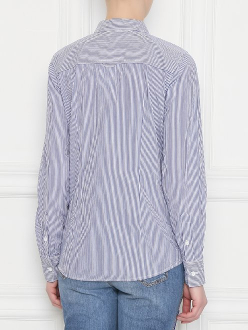 Рубашка хлопковая в полоску - МодельВерхНиз1