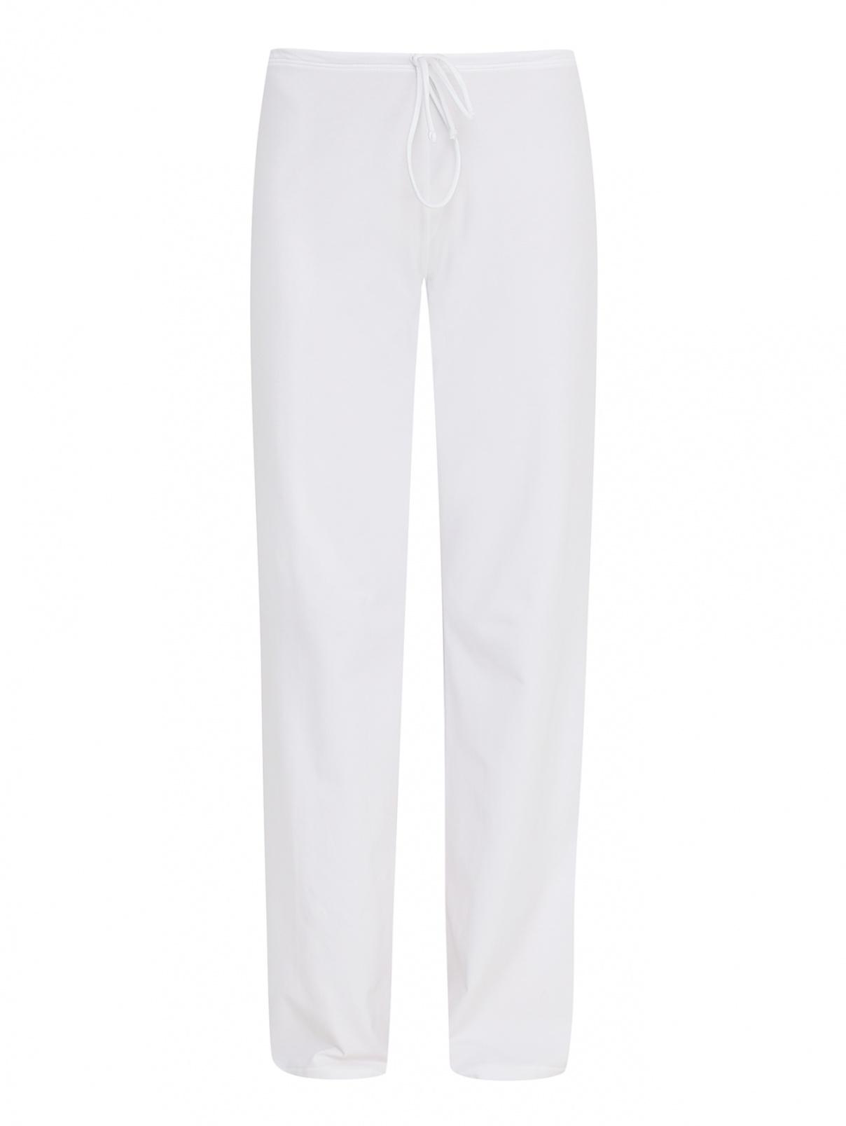 Трикотажные брюки из хлопка свободного кроя La Perla  –  Общий вид