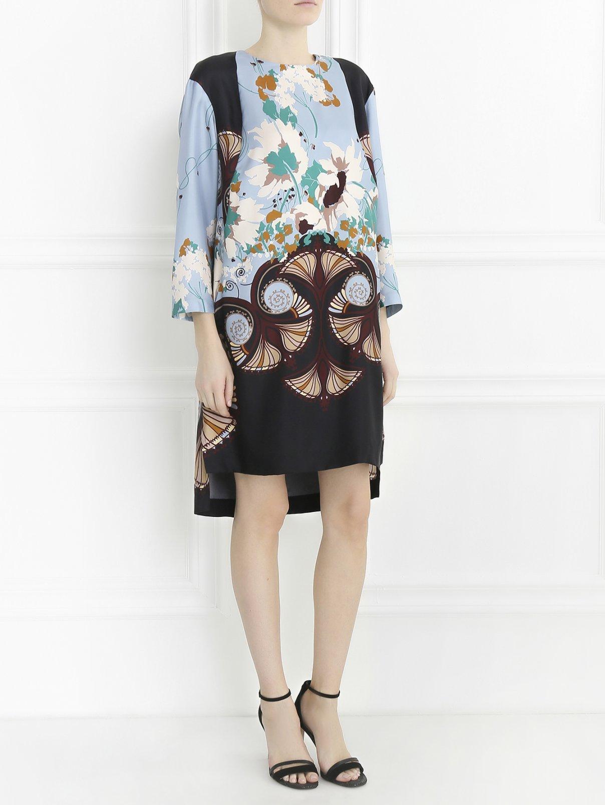 Платье из шелка с цветочным узором Antonio Marras  –  Модель Общий вид