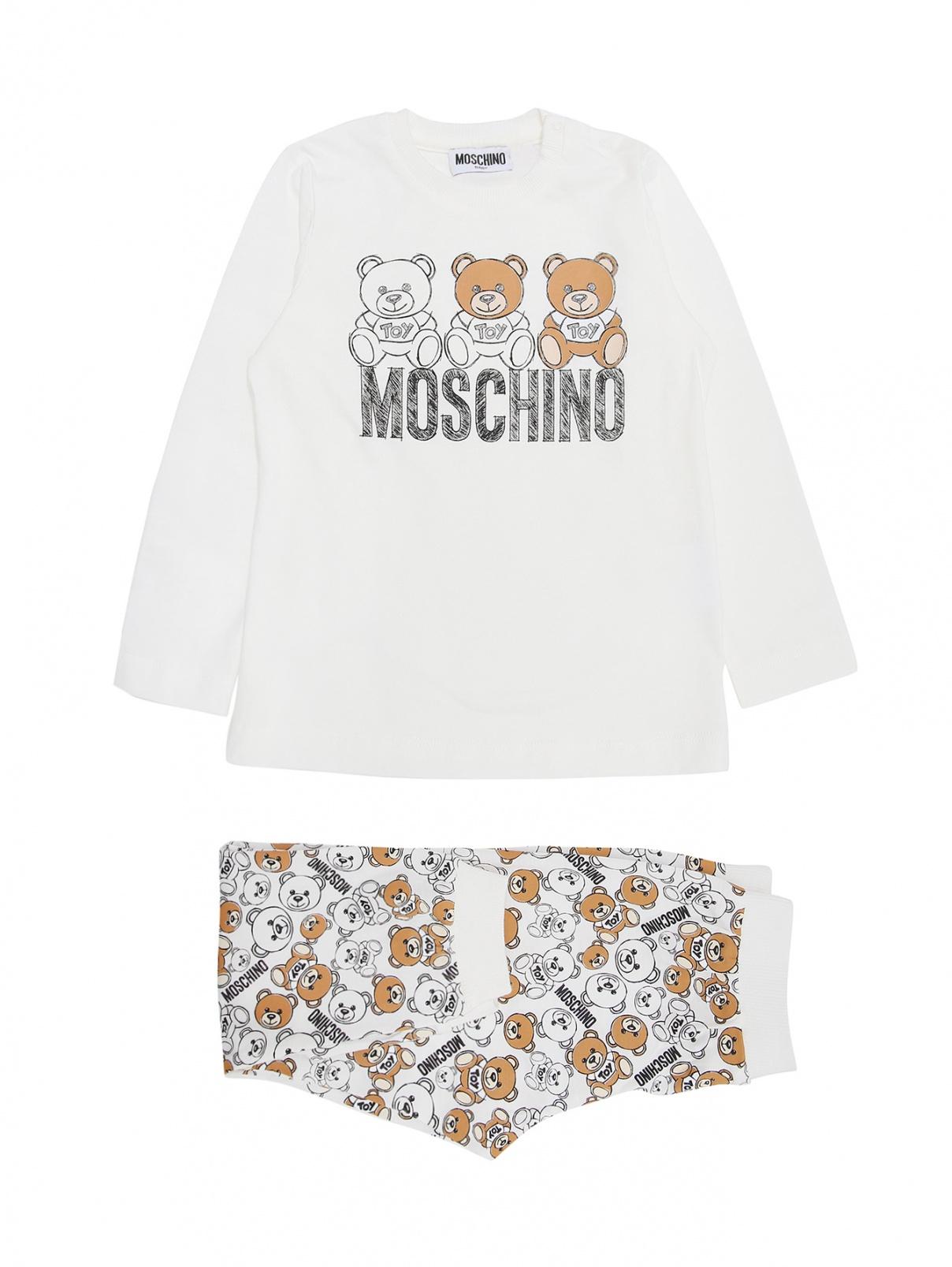 Комплект из хлопка с принтом Moschino BABY  –  Общий вид