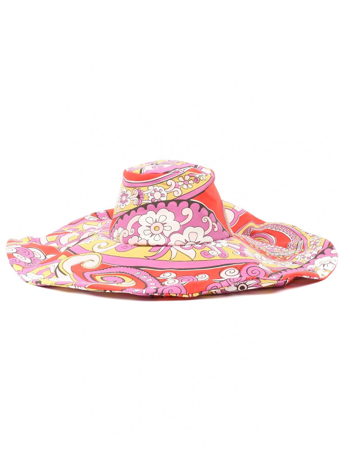 Шляпа из хлопка с узором Etro  –  Общий вид