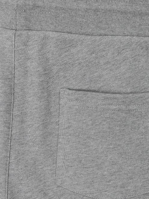 Брюки трикотажные из хлопка с принтом Moncler - Деталь1