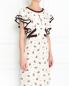 Платье из шелка с узором и контрастной отделкой Dorothee Schumacher  –  Модель Верх-Низ