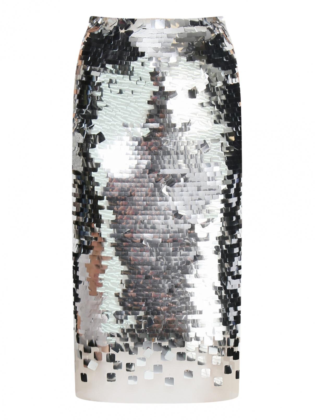 Юбка-карандаш декорированная пайетками Ermanno Scervino  –  Общий вид