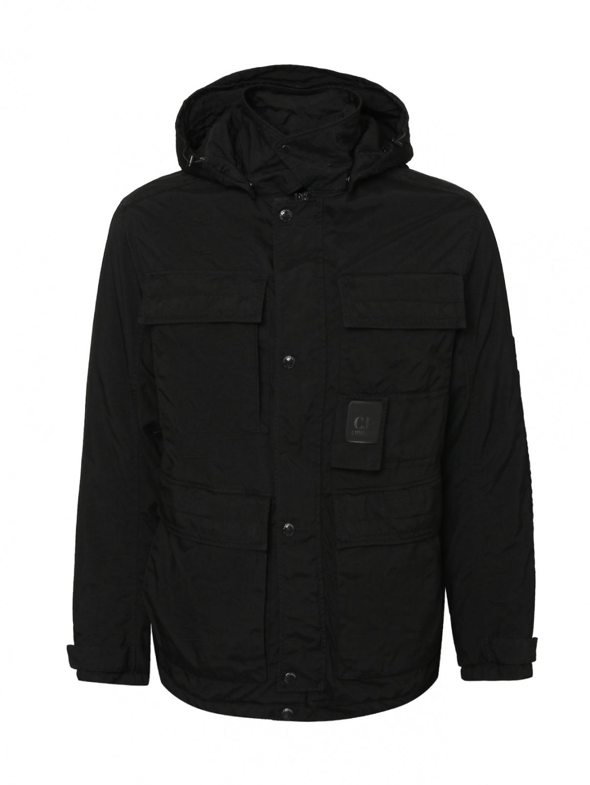 Удлиненная куртка с карманами и капюшоном C.P. Company  –  Общий вид