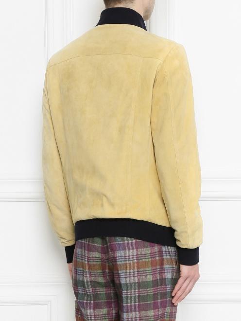 Куртка кожаная на пуговицах  - Модель Верх-Низ1