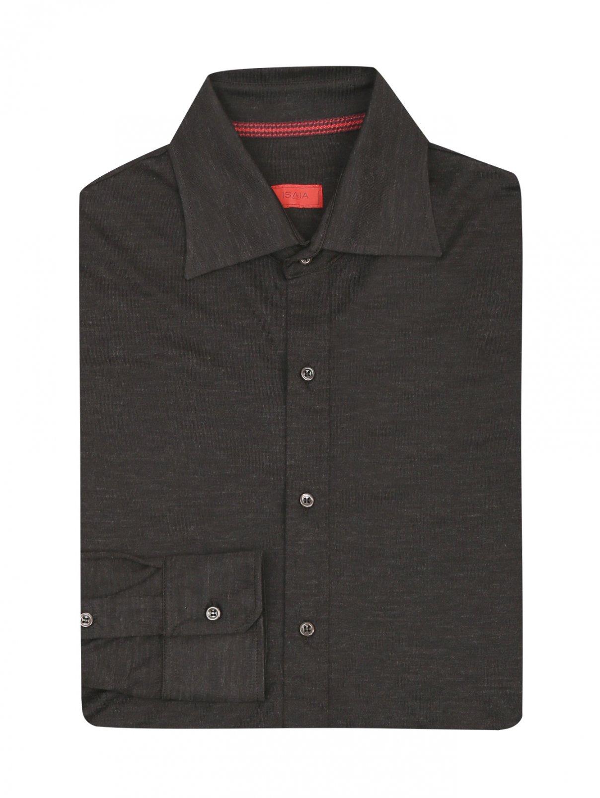 Рубашка трикотажная из шерсти Isaia  –  Общий вид