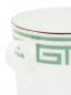 Чайная чашка с орнаментом меандр и серебряной окантовкой Richard Ginori 1735  –  Деталь1