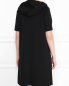 Платье свободного кроя с капюшоном и боковыми карманами Marina Rinaldi  –  МодельВерхНиз1