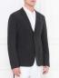 Однобортный пиджак из шерсти и шелка Emporio Armani  –  Модель Верх-Низ