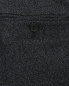 Брюки прямого кроя из шерсти Brooks Brothers  –  Деталь