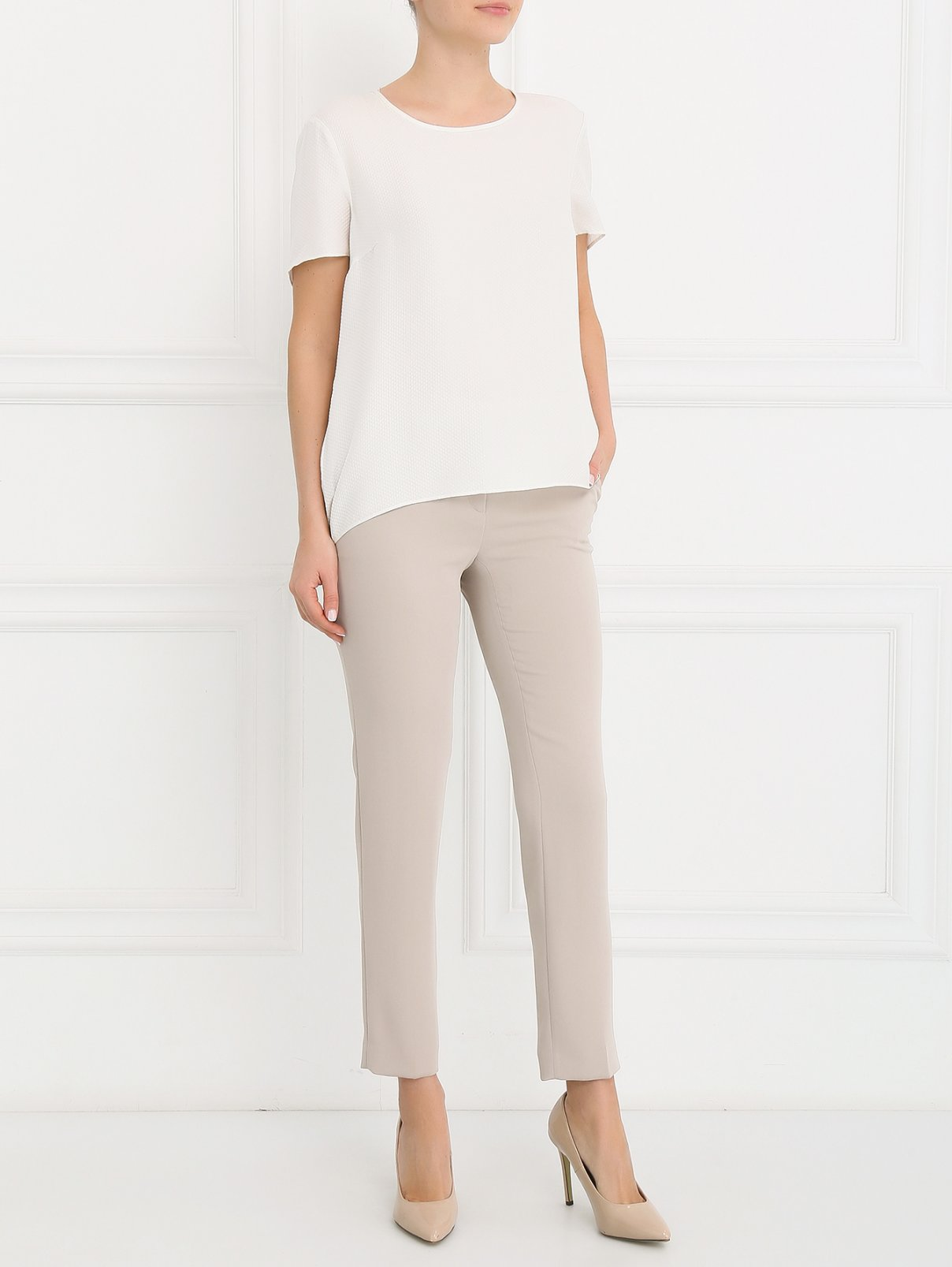 Узкие брюки прямого кроя с боковыми карманами Ermanno Scervino  –  Модель Общий вид