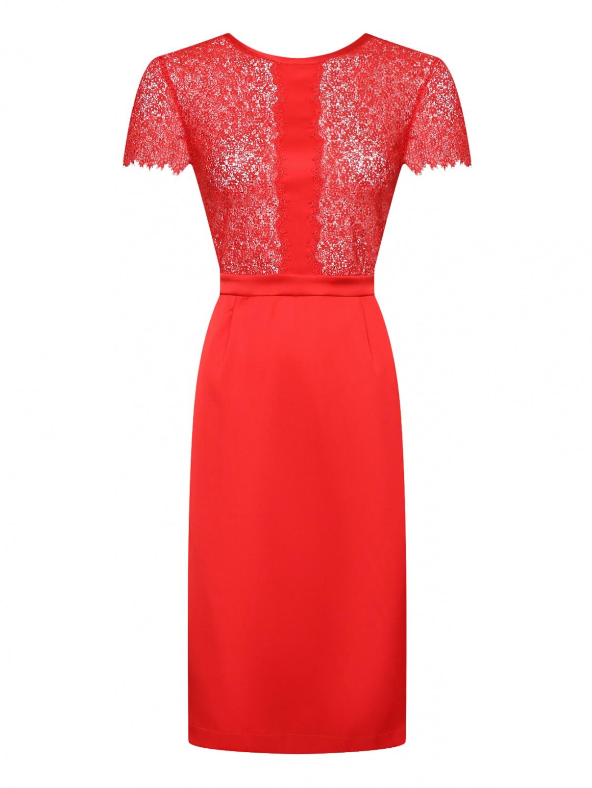 Шелковое платье с ажурной отделкой La Perla  –  Общий вид