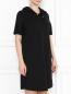 Платье свободного кроя с капюшоном и боковыми карманами Marina Rinaldi  –  МодельВерхНиз