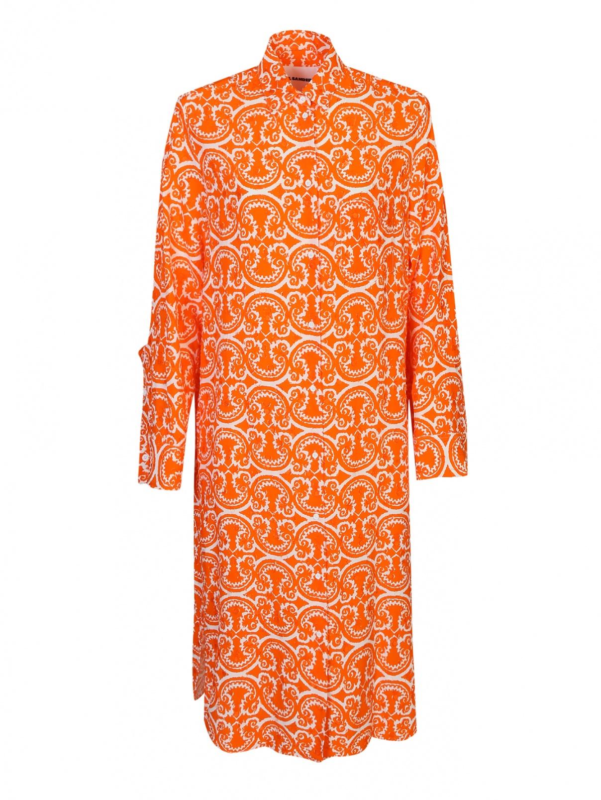 Платье-рубашка с узором Jil Sander  –  Общий вид