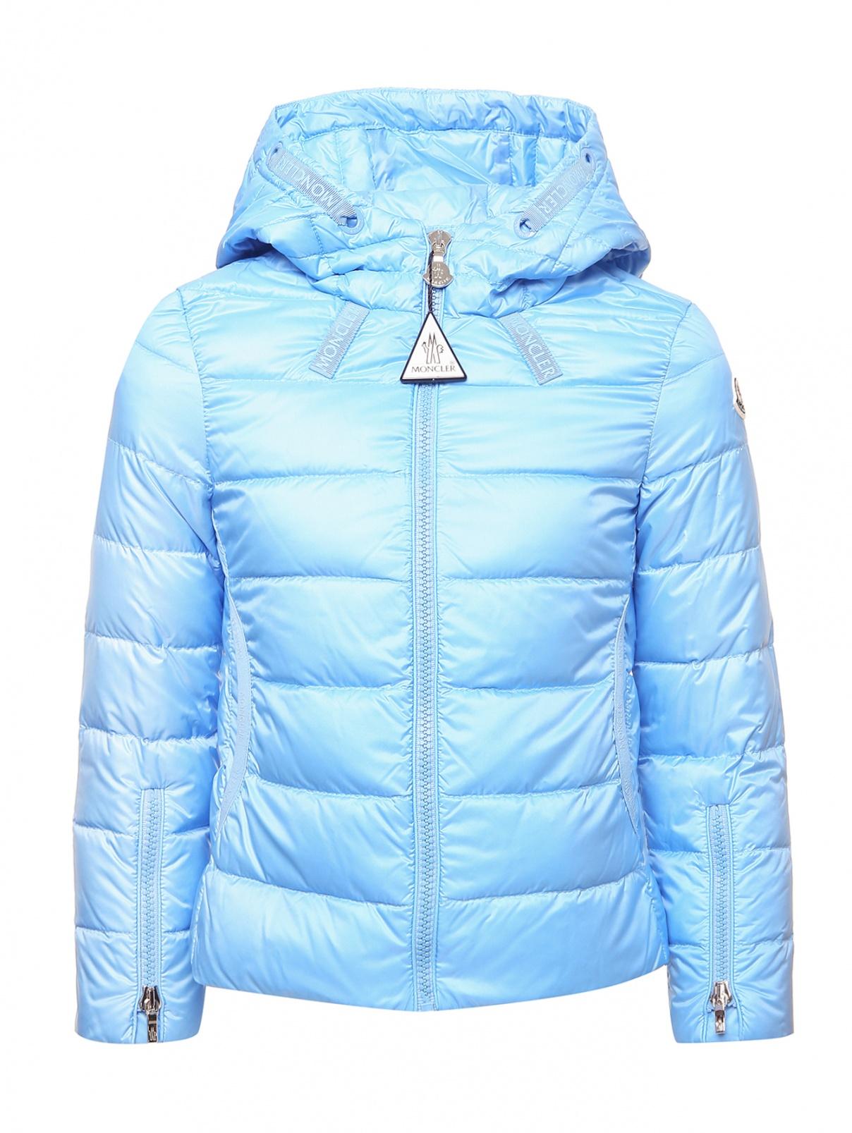 Стеганая куртка на пуховом подкладе Moncler  –  Общий вид