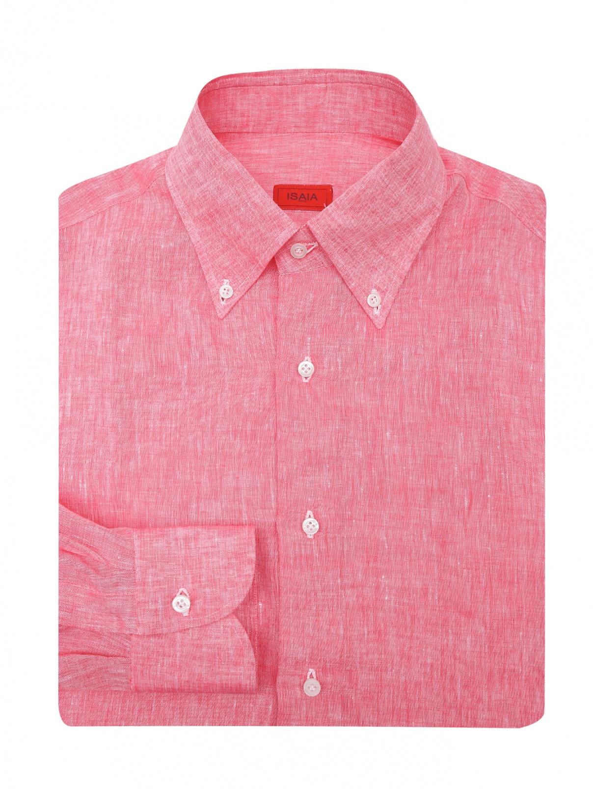 Рубашка из льна Isaia  –  Общий вид