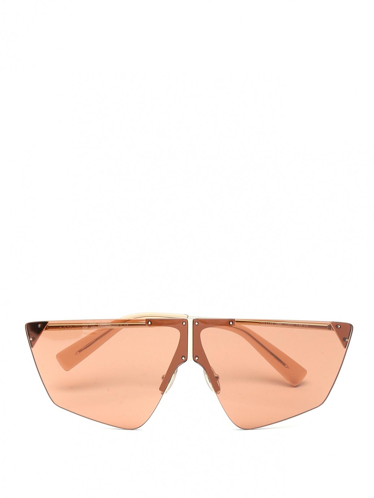 Очки солнцезащитные c металлическими дужками Max Mara  –  Общий вид