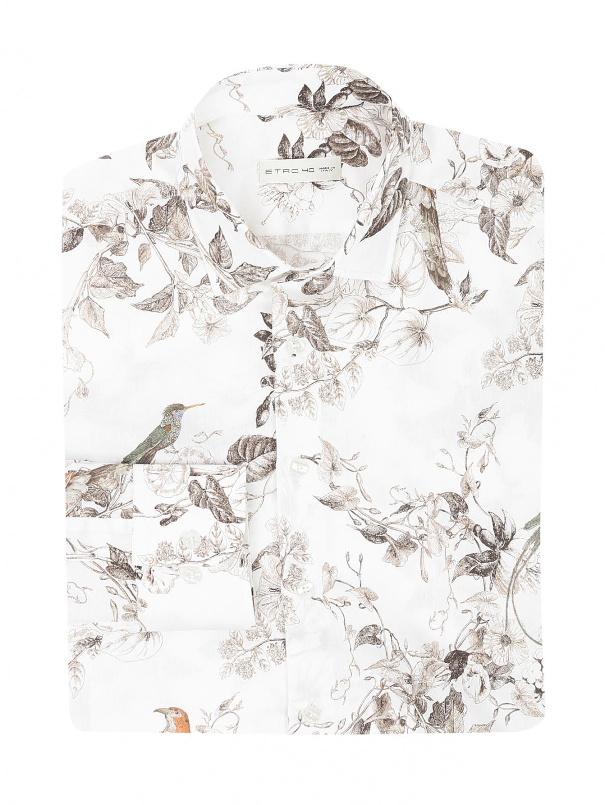 Рубашка из хлопка с узором Etro  –  Общий вид
