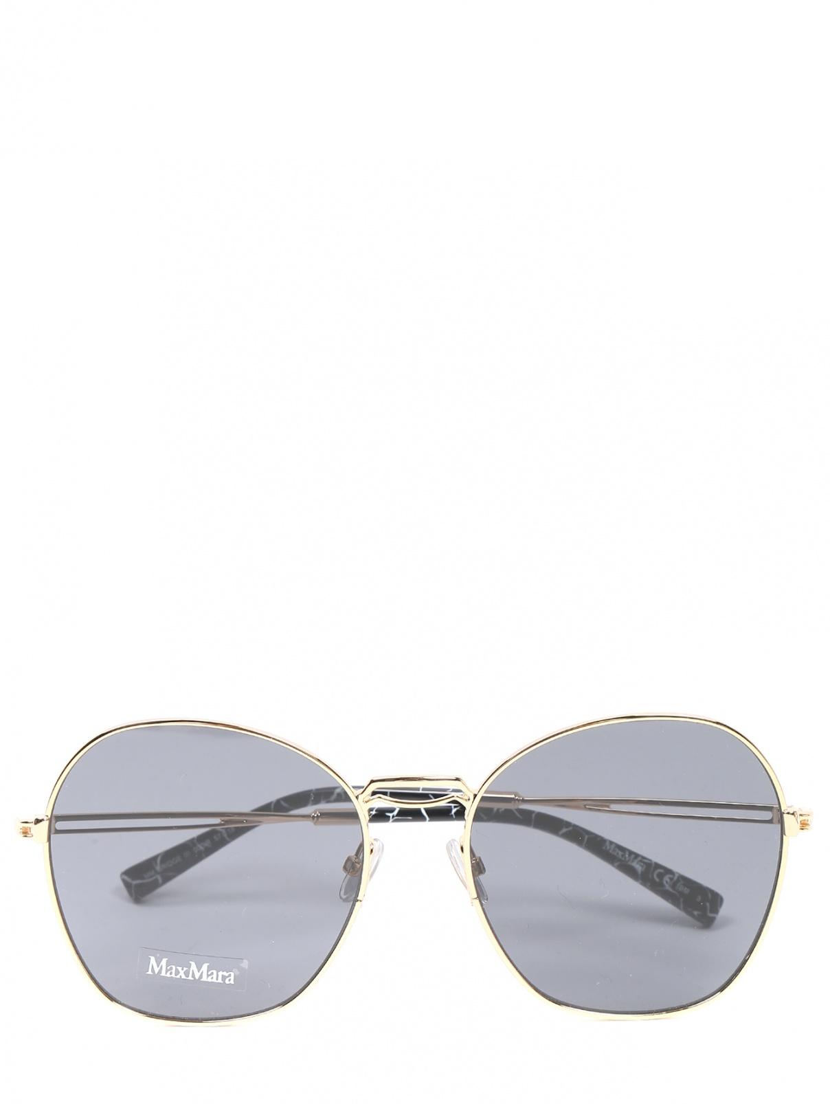 Очки солнцезащитные в оправе из металла Max Mara  –  Общий вид