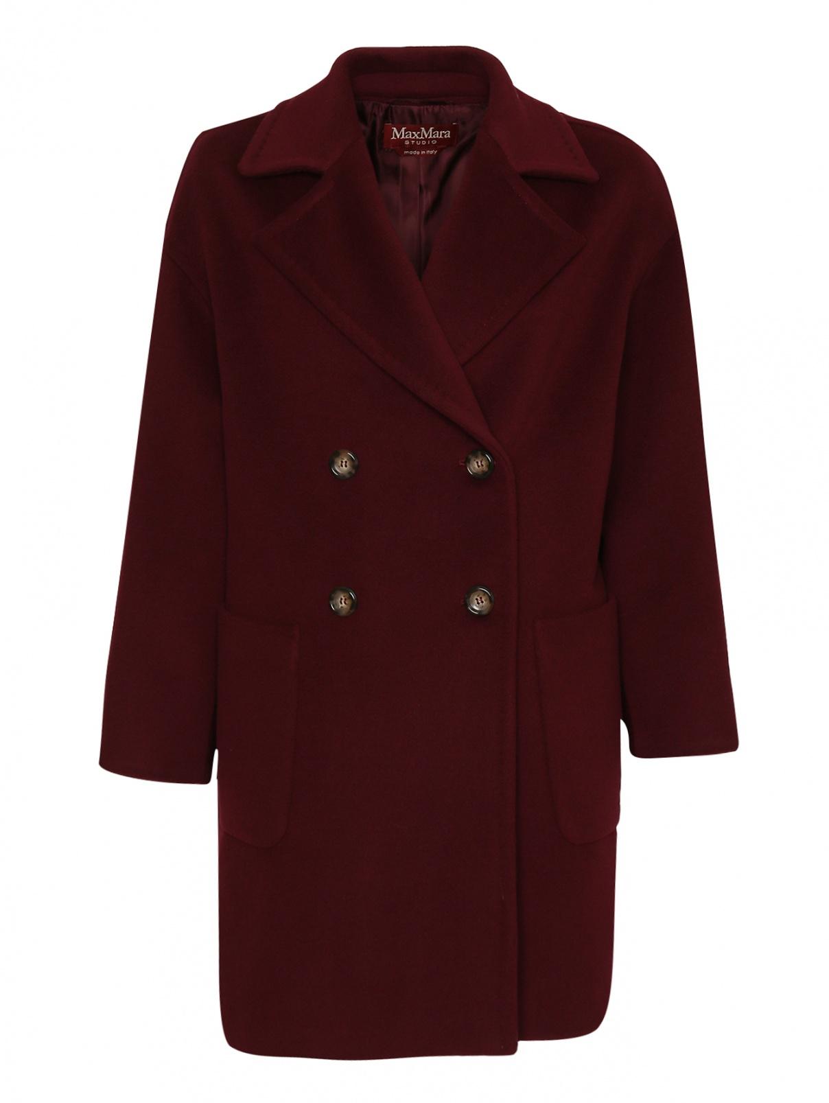 Двубортное пальто из шерсти с карманами Max Mara  –  Общий вид