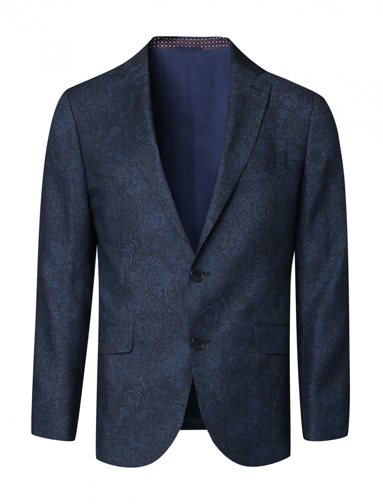 Пиджак из шерсти с принтом Etro  –  Общий вид