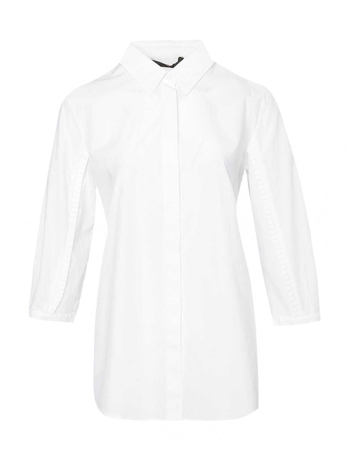 Рубашка из хлопка свободного кроя Marina Rinaldi  –  Общий вид