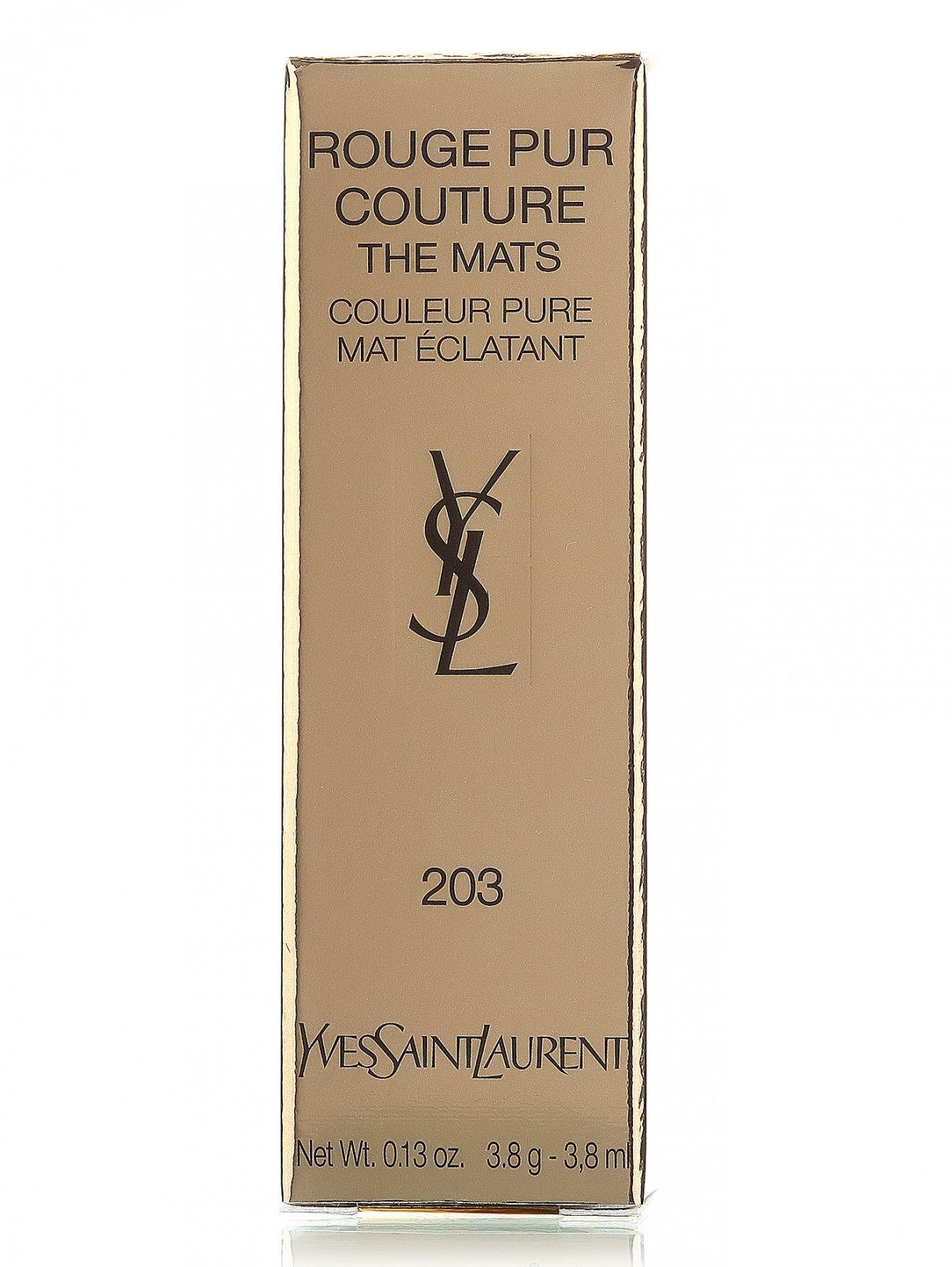 Помада - №203, Rouge Pur Couture YSL  –  Модель Общий вид