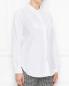 Блуза из хлопка с декором пайетками Marina Rinaldi  –  МодельВерхНиз