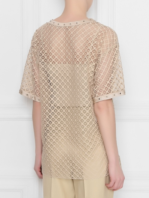 Блуза кружевная с декором Alberta Ferretti - МодельВерхНиз1
