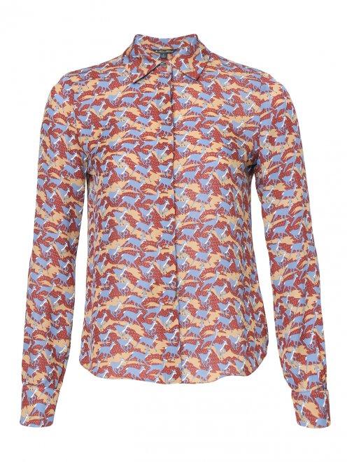 Блуза из шелка с узором - Общий вид
