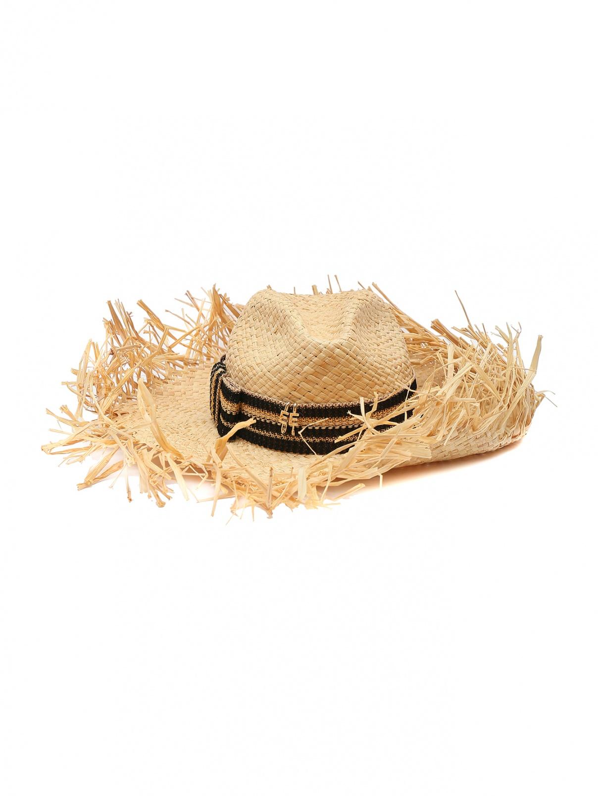Шляпа соломенная с контрастной вставкой Ermanno Scervino  –  Общий вид