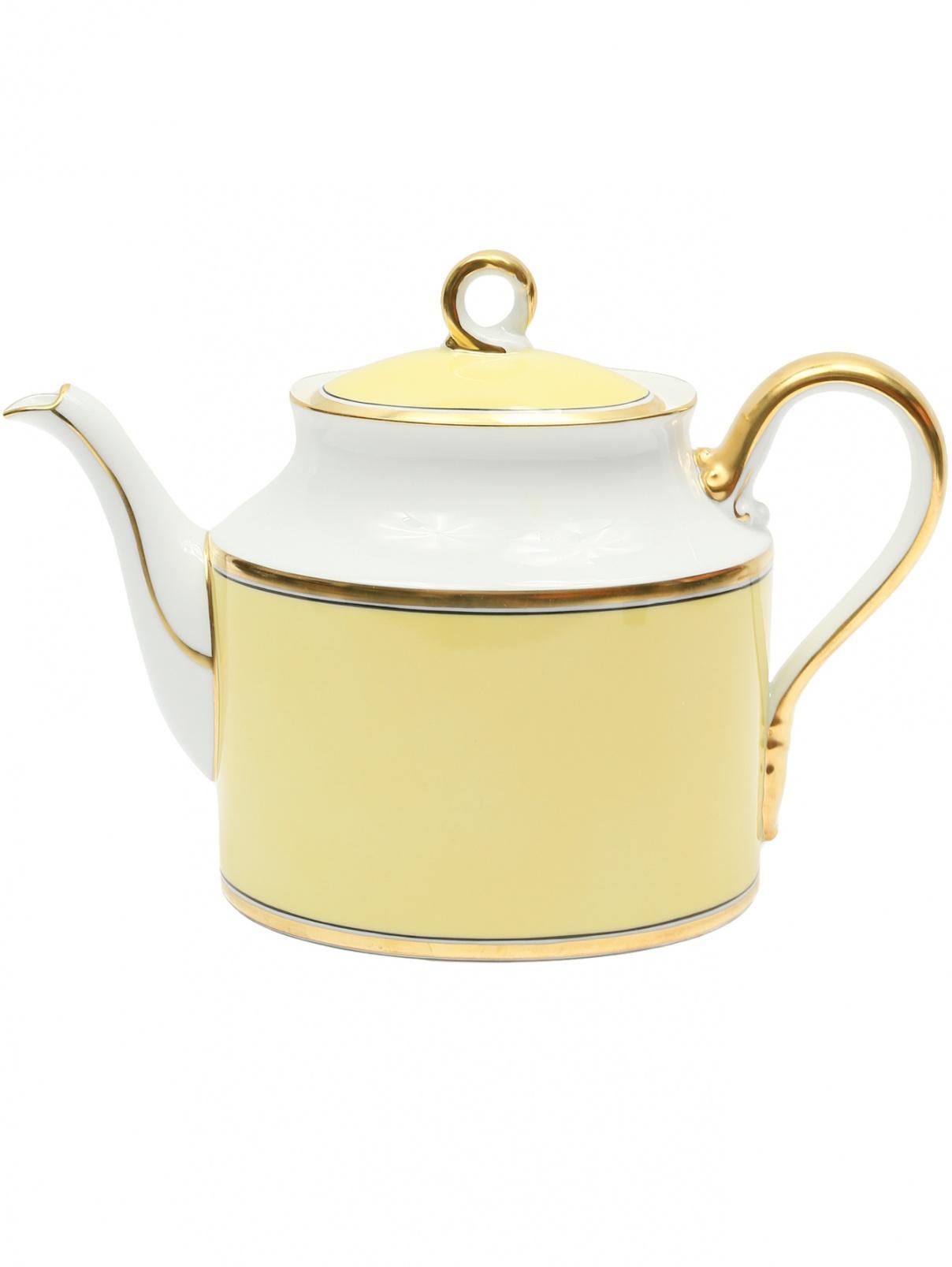 Фарфоровый чайник с крышкой Richard Ginori 1735  –  Общий вид