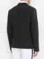 Однобортный пиджак из шерсти и шелка Emporio Armani  –  Модель Верх-Низ1