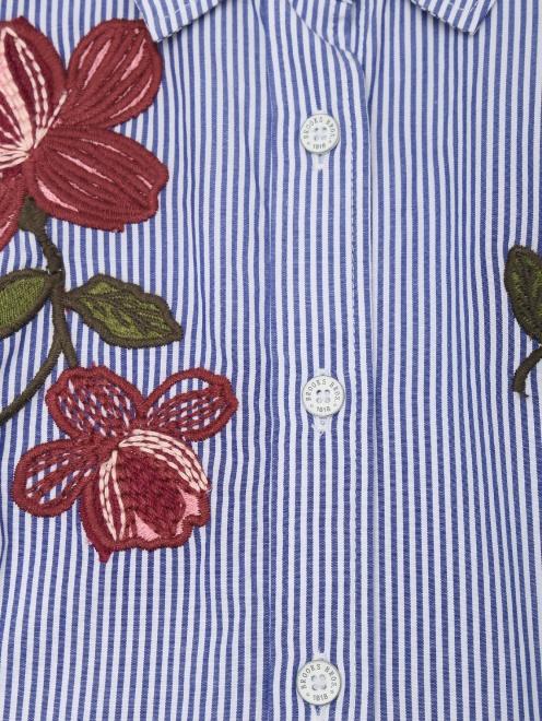 Рубашка хлопковая в полоску - Деталь