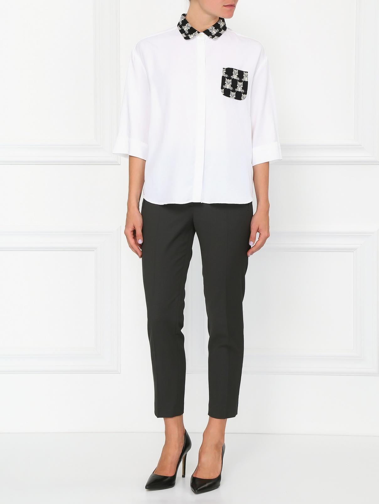 Узкие брюки с боковыми карманами Tara Jarmon  –  Модель Общий вид