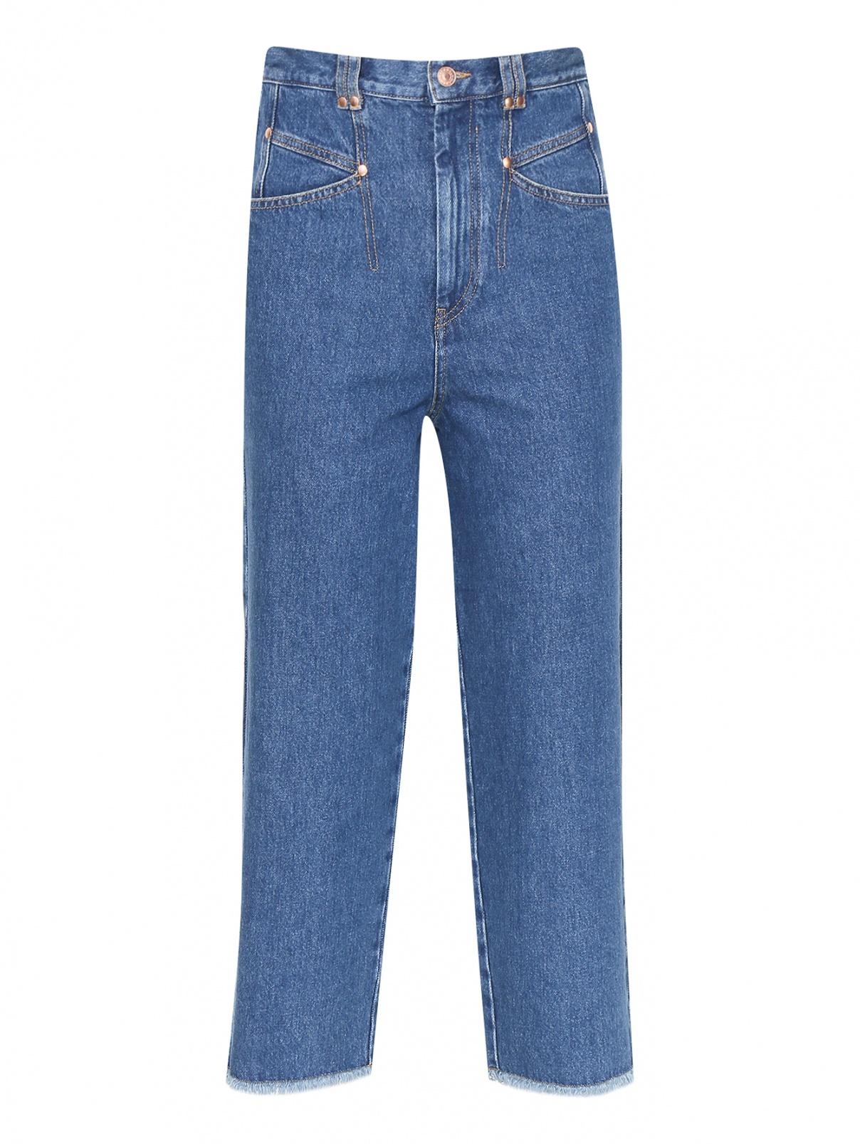 Укороченные джинсы с бахромой Isabel Marant  –  Общий вид