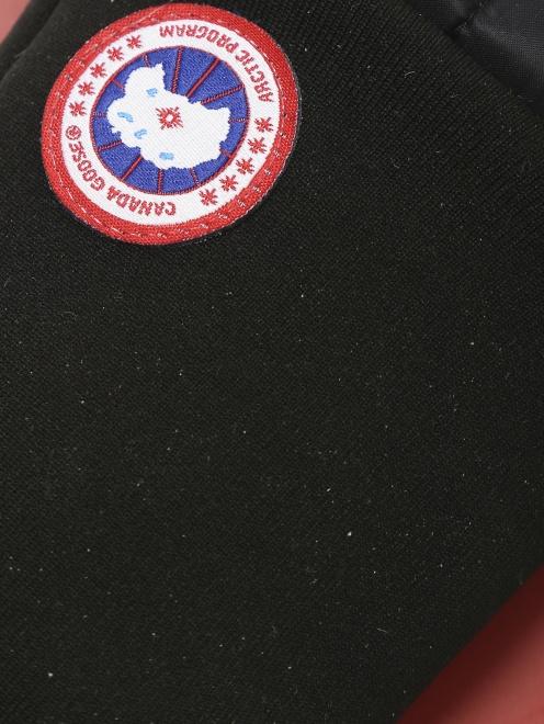Перчатки пуховые с контрастной вставкой Canada Goose - Деталь1