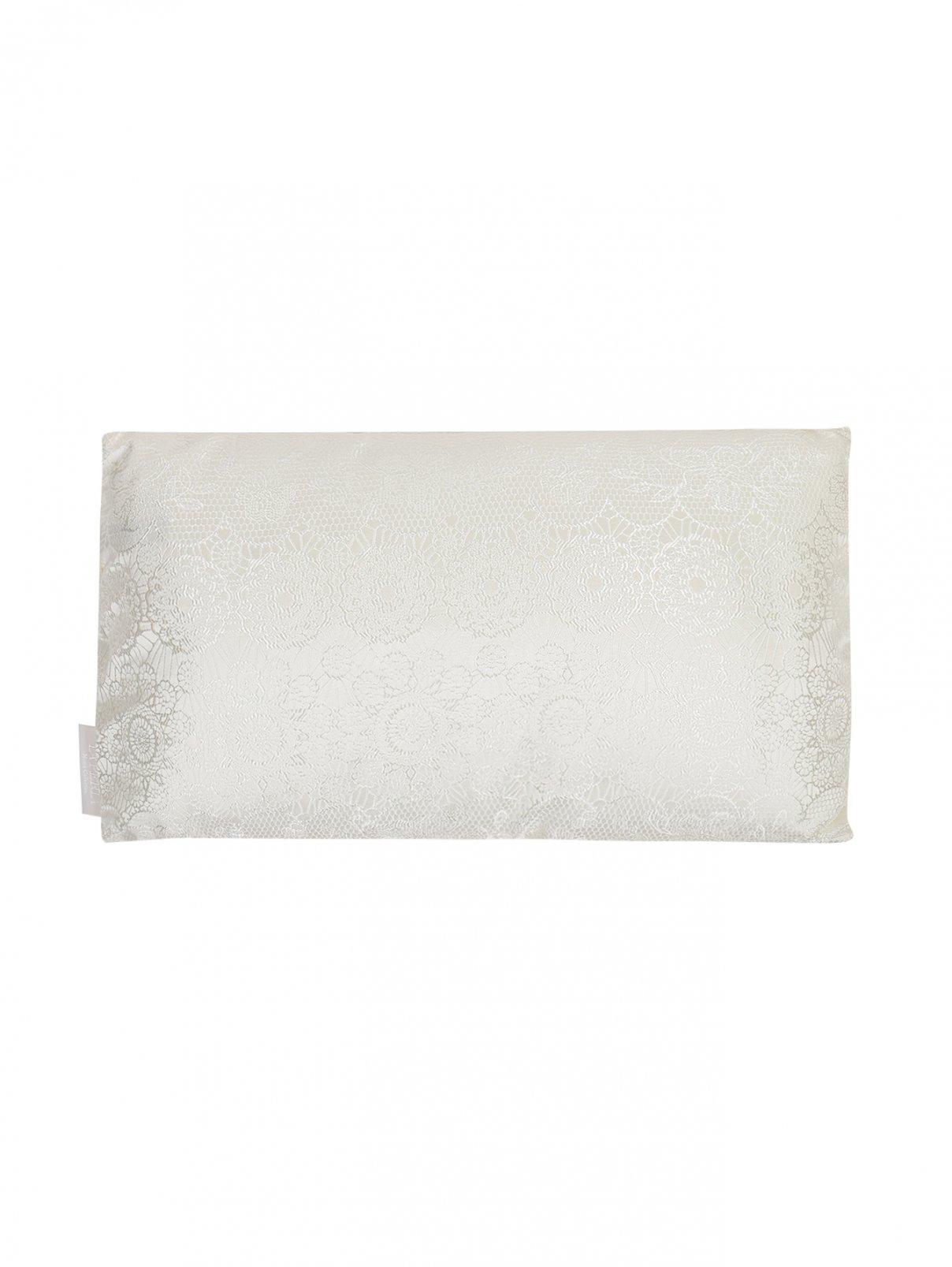 Подушка из текстурной ткани с растительным узором 30 x 50 La Perla  –  Общий вид