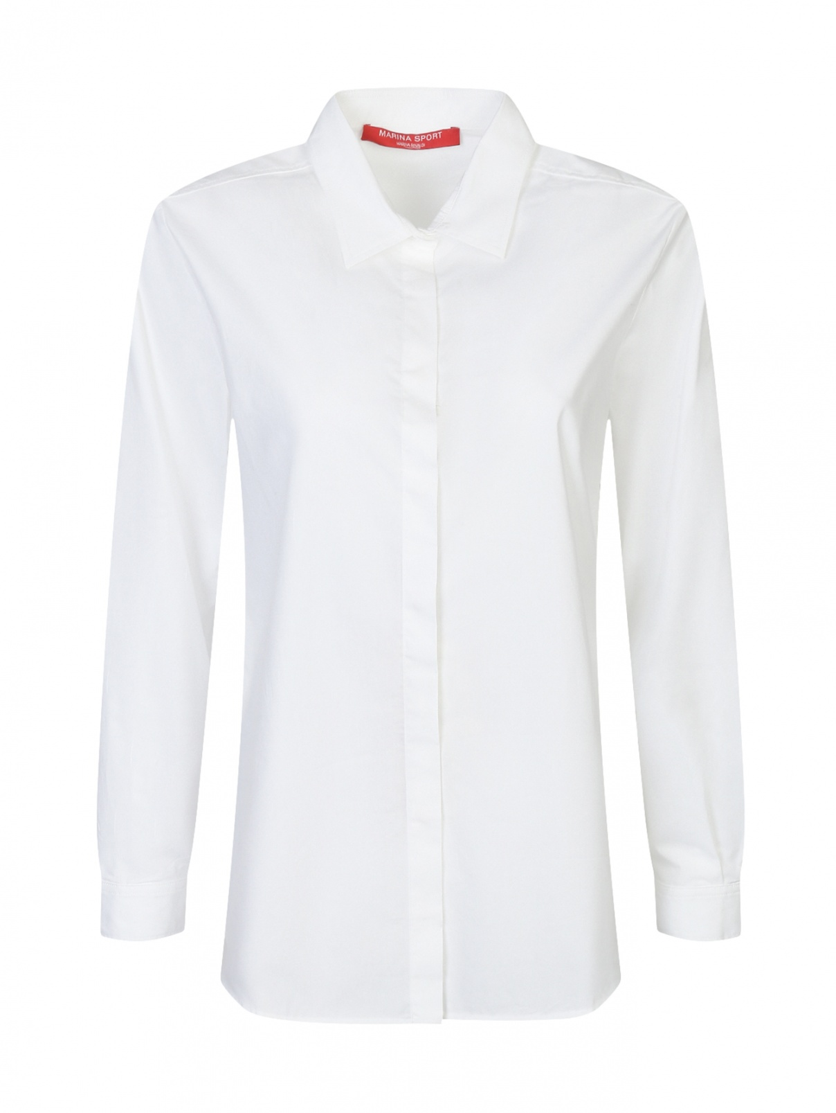 Базовая рубашка из хлопка Marina Rinaldi  –  Общий вид
