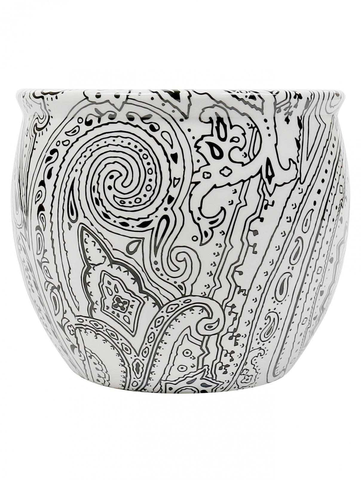 Кашпо из керамики с узором Etro  –  Общий вид
