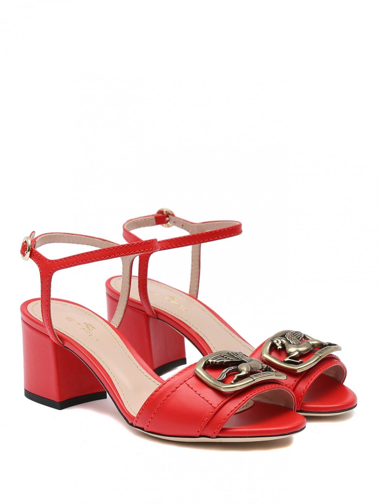Босоножки из кожи на среднем каблуке Etro  –  Общий вид