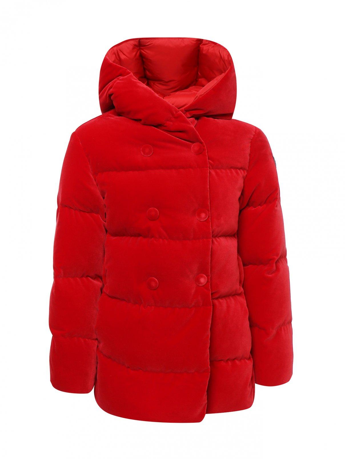 Куртка бархатная на пуховом подкладе Il Gufo  –  Общий вид