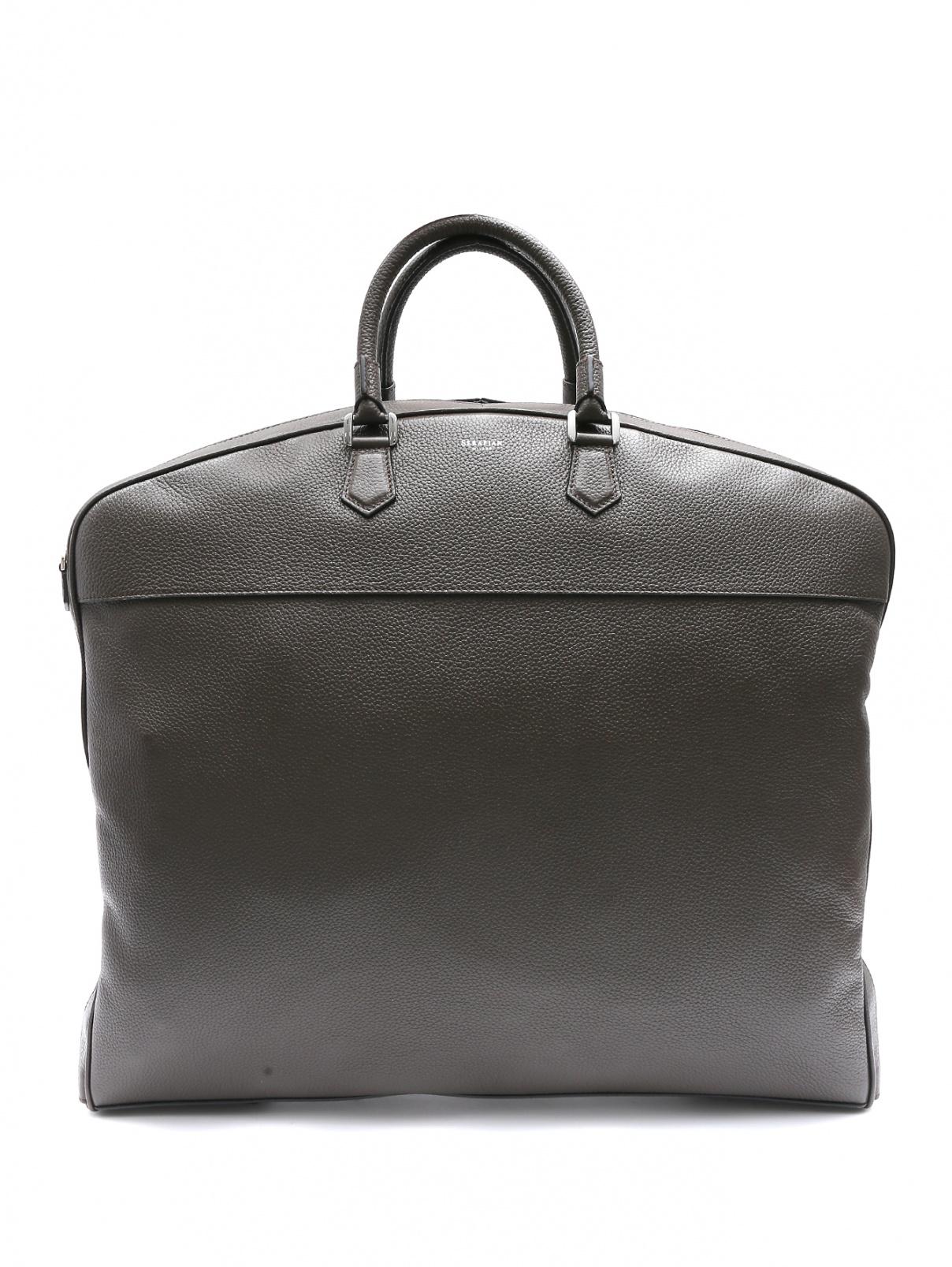 Дорожная сумка из фактурной кожи Serapian Milano  –  Общий вид