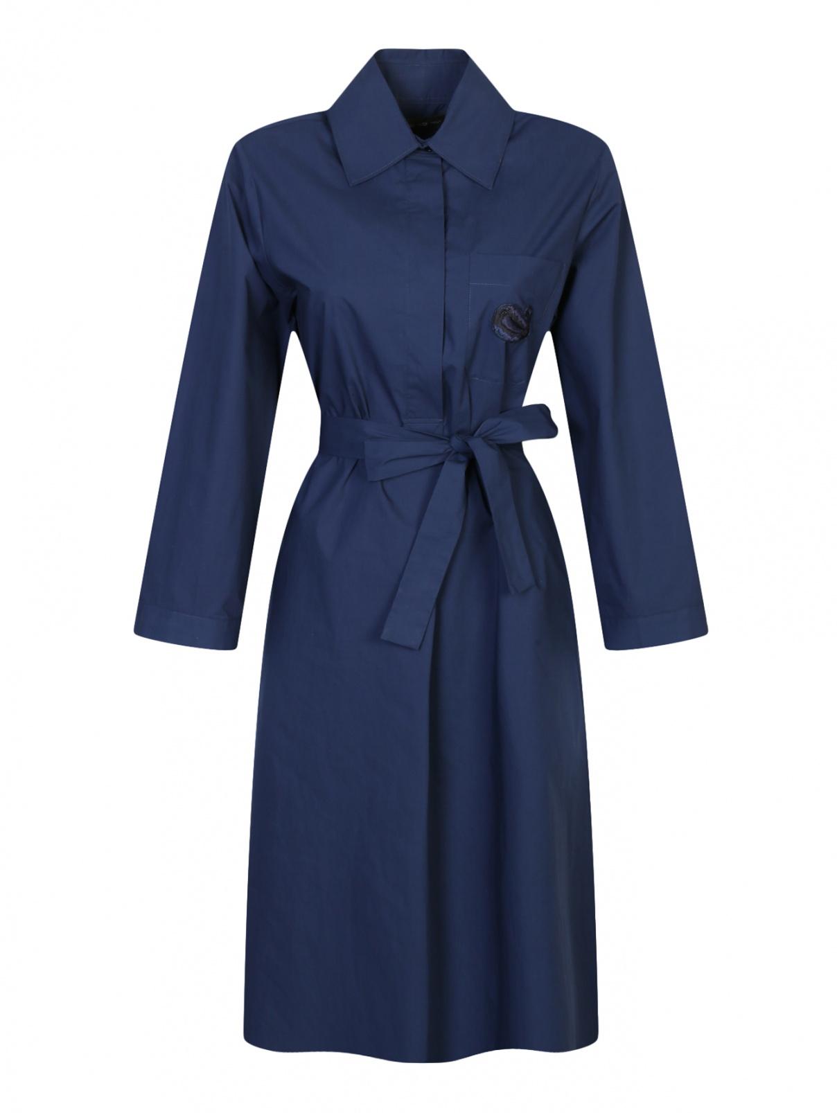 Платье из хлопка с боковыми карманами Etro  –  Общий вид