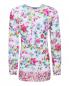 Блуза удлиненная с цветочным узором Ermanno Scervino Junior  –  Общий вид