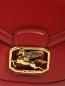 Кожаная сумка на плечевом ремне с металлической фурнитурой Etro  –  Деталь